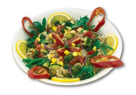 Akşam:   Izgara tavuk-salata veya ton balıklı salata, 1 dilim kepek ekmeği veya kepekli makarna, salata veya tavuk şiş, salata veya patates salatası, cacık veya sebzeli makarna, salata veya ızgara tavuk, salata.